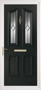 black pvcu exterior door