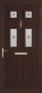 rosewood pvcu exterior door