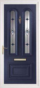 blue pvcu exterior door