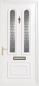 white pvcu exterior door