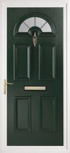 green pvcu exterior door