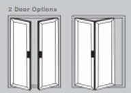 Aluminium Bi-Fold Doors - 2 door options