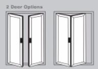 Aluminium Bi-Fold Doors - 2 door options