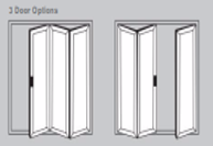 Aluminium Bi-Fold Doors - 3 door options
