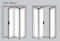 Aluminium Bi-Fold Doors - 3 door options