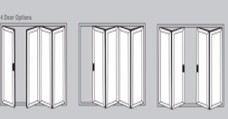 Aluminium Bi-Fold Doors - 4 door options