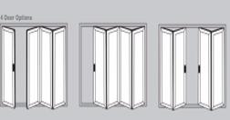 Aluminium Bi-Fold Doors - 4 door options