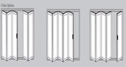 Aluminium Bi-Fold Doors - 5 door options