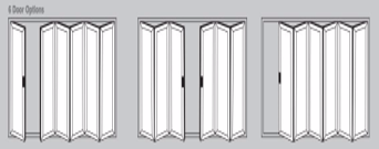 Aluminium Bi-Fold Doors - 6 door options