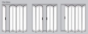 Aluminium Bi-Fold Doors - 6 door options