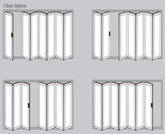Aluminium Bi-Fold Doors - 7 door options