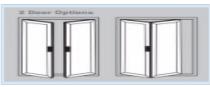 Bi-Fold Doors - 2 door options
