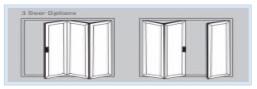 Bi-Fold Doors - 3 door options