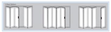 Bi-Fold Doors - 5 door options