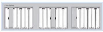 Bi-Fold Doors - 6 door options