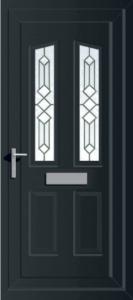grey PVCu exterior door