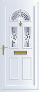 white uPVC front door