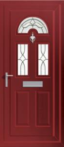 red PVCu exterior door