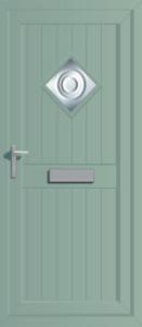 green uPVC front door