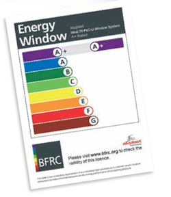 A+ energy rated double glazing